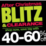 Kohl's After Christmas Blitz + an additional 20% off your total purchase in stores and online!
