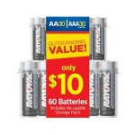 HOT DEAL ALERT:  60 Rayovac batteries for $9.97! (AA and AAA)