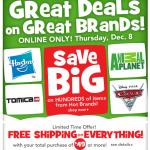 Toys 'R Us Online Only sale + bonus offers + 7% cash back!