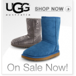 Ugg Boots up to 40% off plus 4% cash back!