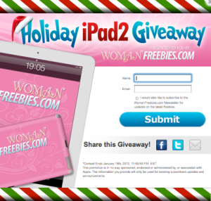 womanfreebies sweepstakes woman freebies holiday ipad2 giveaway 7467
