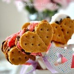30 Days of Valentine's Fun: Heart Shaped Smore Pops