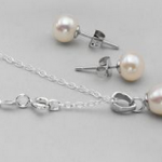 Sterling Silver Freshwater Pearl Jewelry Set for as low as $6!