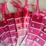 30 Days of Valentine's Fun Day #2:  Paint sample bookmarks!