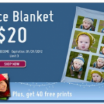 BACK IN STOCK:  Personalized fleece blanket only $20!