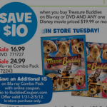 Get Disney's Treasure Buddies and Snow Buddies on Blu Ray for just $29.98!