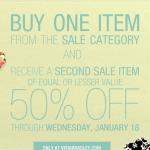 HOT:  Vera Bradley BOGO 50% off sale!