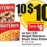 Weight Watchers Smart Ones $.70 each after coupon at HEB!