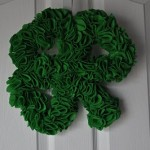 St Patrick's Day Craft: Shamrock Wreath