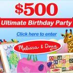 SWEEPS:  Win a $500 Melissa & Doug shopping spree!