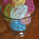 Easter Craft: Decorative String Eggs!