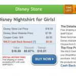 HOT DEAL ALERT:  Disney girls nightshirt only $6.49 after cash back!