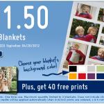 Personalized Fleece Photo blanket for just $21.50 PLUS 40 free photo prints!