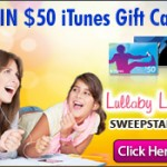 SWEEPS:  Win a $50 iTunes gift card (ends 4/20)