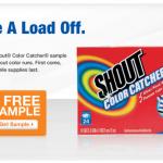 FREEBIE ALERT:  FREE Shout Color Catcher plus $1 off coupon!