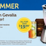 Gevalia:  FREE Stainless Steel Blender plus 4 boxes of gourmet Gevalia coffee or tea for $19.99 shipped!