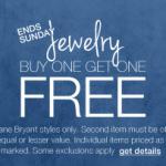 Lane Bryant BOGO FREE jewelry and accessories sale!