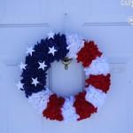 4th of July Craft: Patriotic Wreath