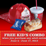 Firehouse Subs:  Free Kids Combo with the purchase of an adult entree!