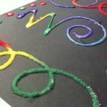 Kids Craft: Raised Salt Painting