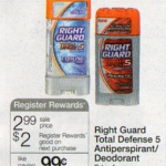 Print & Hold:  Right Guard Total Defense deodorant FREE after coupons next week!