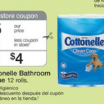 Cottonelle Toilet Paper only $.25 per roll at Walgreens this week!
