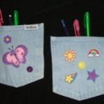 Back to School Craft: Denim Locker Pockets