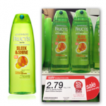 Garnier Fructis Shampoo or Conditioner $.79 after coupons at Target!