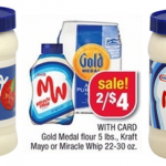 Kraft Mayo or Miracle Whip just $1 each after coupons at CVS this week!