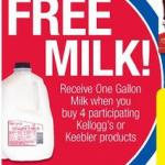 Kroger: 4 boxes of Nutrigrain bars plus milk for $8 total!