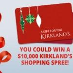 SWEEPS:  Win a $10,000 Kirkland's Shopping Spree!