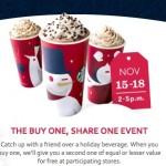 Starbucks BOGO Free Drinks Event Ends today!