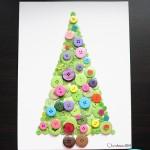 Christmas Craft: Button Christmas Trees