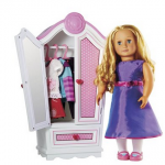 Our Generation Doll, Armoire, and 3 outfits for $42 shipped!