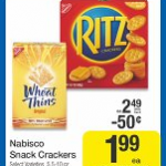 Wheat Thins as low as $.99 after coupon at Kroger stores!