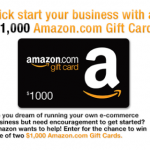 Amazon Sweepstakes:  win a $1,000 Amazon gift card!