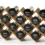 Kamenstein® 18 Jar Criss-Cross Bamboo Spice Rack with FREE refills for $24!