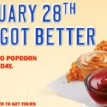 Sonic Jumbo Popcorn Chicken 1/2 price all day today!
