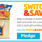 Aldi Switch & Save Sweepstakes: win $20 gift cards!