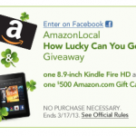 Win a Kindle Fire HD or a $500 Amazon Gift Card!