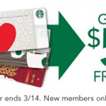 Starbucks FREE $5 Gift Card!