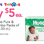 Huggies Pure 'N Natural Jumbo Packs only $5!