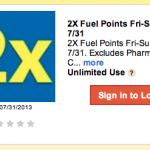 Kroger Double Fuel Rewards Coupon!