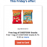 FREE bag of Cheeto's at Kroger stores!