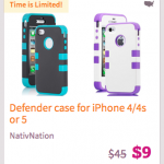 iPhone Defender Cases for iPhone 4/4s and 5 only $9!