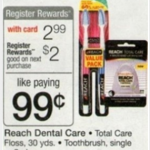 FREE Reach toothbrushes at Walgreens!