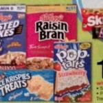 Kellogg's Cereals just $.67 per box!