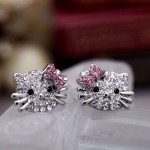 Hello Kitty Crystal Earrings only $.99 shipped!