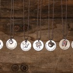 Personalized Stamp Disc Necklace with Charm only $8.99