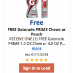 Kroger Freebie Friday Download:  Gatorade Prime Pouch or Energy Chews
